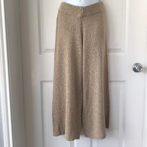 Zara Knit Wide Leg Crop Pants Medium